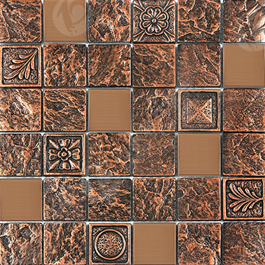 FREESHIP copper reddish rustic Resin Backsplash tile,drawbench stainless steel Kitchen Bathroom Border DIY home wallpaper,LSRN02