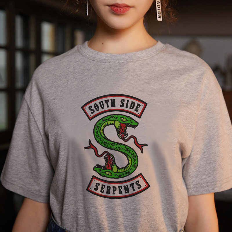c9a90832 ... Summer Snake Print Riverdale SouthSide Serpents Jughead Graphic Tees  Women Harajuku Fashion Riverdale South Side Female ...