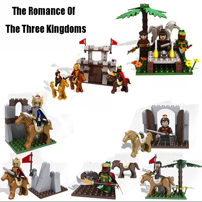 Classic Chinese Historical Figures The Romance Of Three Kingdoms War Scenes Model Building Blocks Bricks Educational Kid Toys rollercoasters the war of the worlds