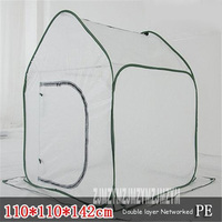 Foldable Flowers Greenhouse PE Domestic Material Greenhouse For Mini Greenhouse Plants 110X110X142CM Single, Foldable, Secure