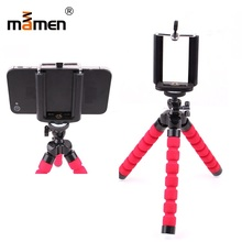 Mamen Mini Camera Tripod Monopod For Canon Sony Nikon Sport Photo Tripod For iPhone Samsung Selfie Stick LED Light Tripod