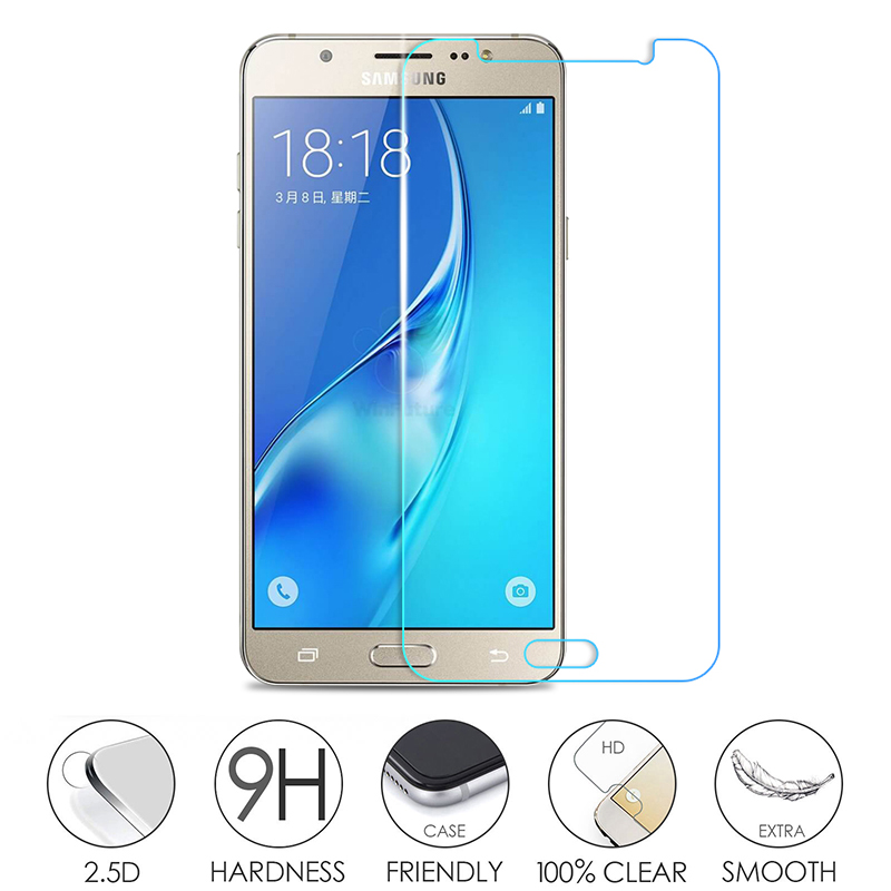 GPNACN 9H Tempered Glass For Samsung Galaxy J3 J5 J7 2017 2016 2015 J310 J510 J710 Screen Protector Film Tempered Glass Case