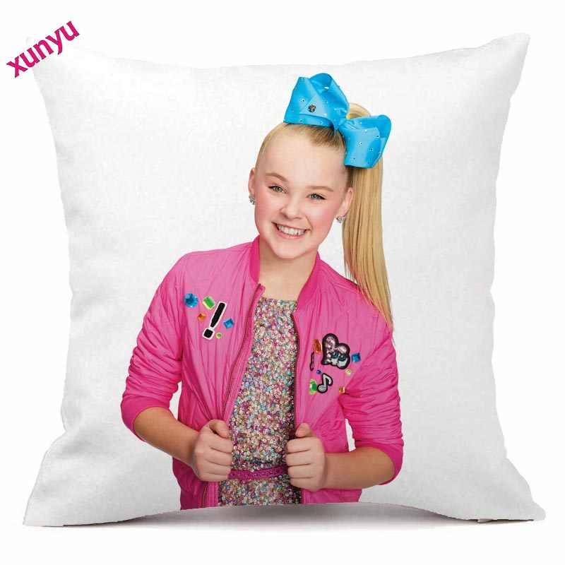 9190663a91 JoJo Siwa Cushion Cover 45x45cm Lovely Girl Pillow Case Polyester  Pillowcase Home Decorative Throw Pillow Cover for Sofa Couch