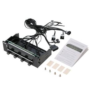 Image 5 - Sunshine tipway STW controlador de ventilador de 4 canales para PC, multifunción, controlador de ventilador, ajustador de Control de velocidad, Panel frontal de refrigeración LCD