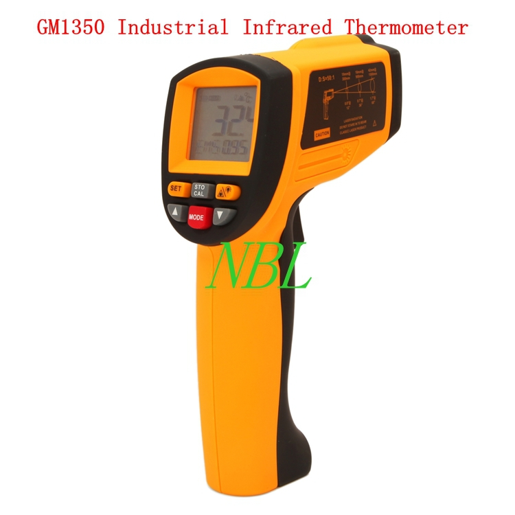 50:1 Industrial Infrared Thermometer -18C~1350C 2462F LCD Professional Pyrometer 0.1~1EM GM1350 With Backlit High Quality 1 1 green backlit lcd infrared ear thermometer 0 c 100 c 2 x aaa