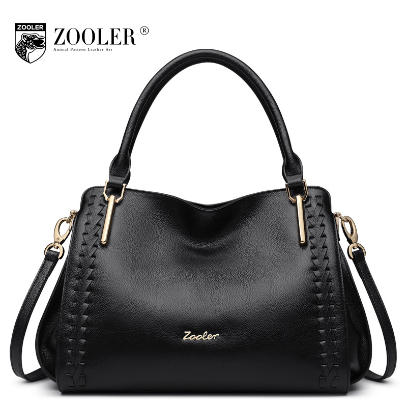 ZOOLER Fashion Women's Genuine Leather Handbag Ladies All Match Cowhide Shoulder Bags Handbags Women Famous Brands Crossbody Bag zooler fashion chains high quality genuine leather bags handbags women famous brand ladies cowhide messenger shoulder bag bolsas