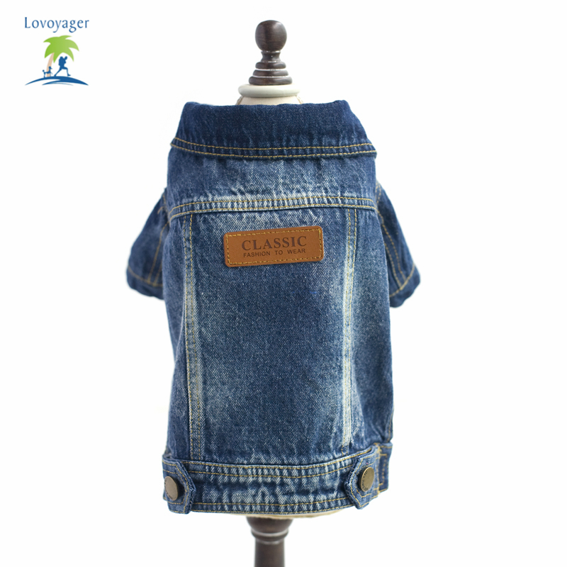 New Casual Fashion Pets Plus Size True Denim Jacket Jean Coats For Dog Puppy