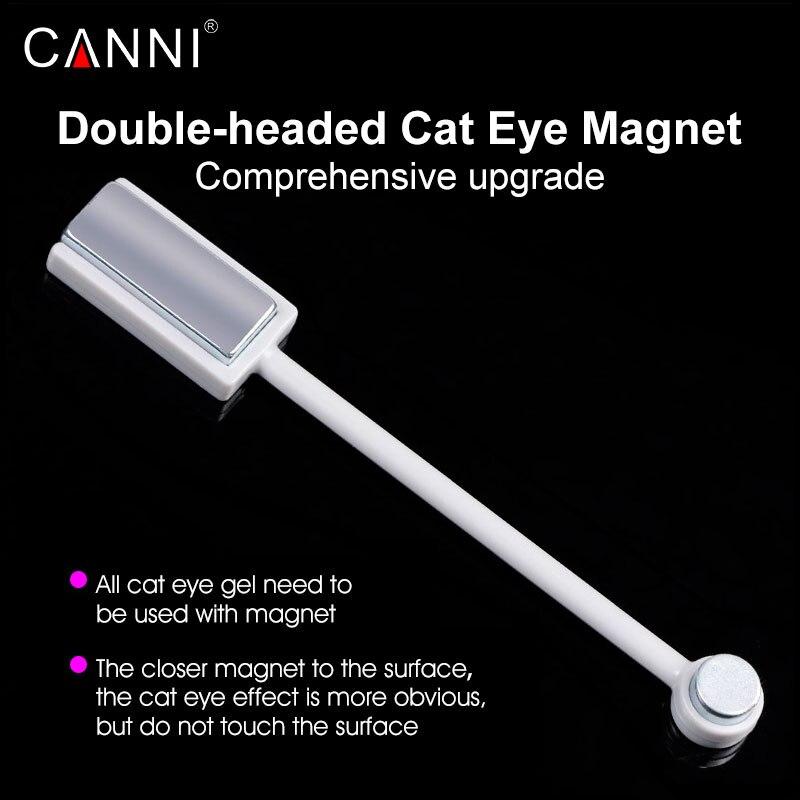 #70601 новых двуглавого магнитные пластины магнит пера 1 предмет canni Дизайн ногтей DIY инструмента для всех Magic 3D кошка средства ухода для век магнит Гели для ногтей Польский