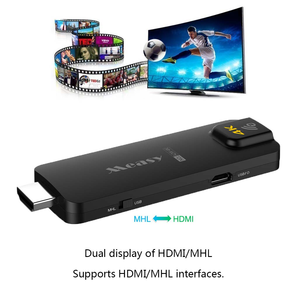 4K TV Stick Dongle 5G Wifi Support HDMI DLNA Miracast Airplay DLNA Chrome cast Stick For