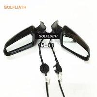 Golfliath для Audi A6 электрическое отопление зеркало заднего вида и крышка в сборе 5 линий 7 линии левый + подходящую для A6L 2005 2008