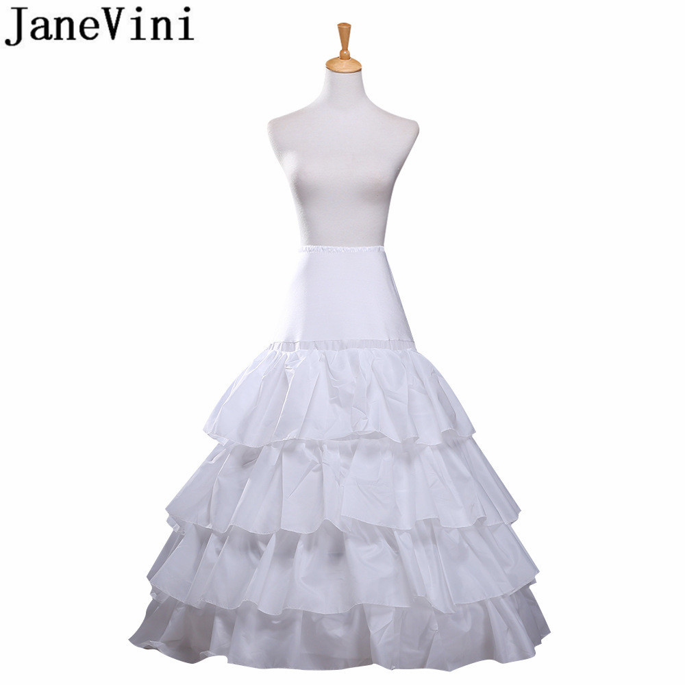 JaneVini 3 Hoops Petticoats for Wedding Dress A Line Long ...