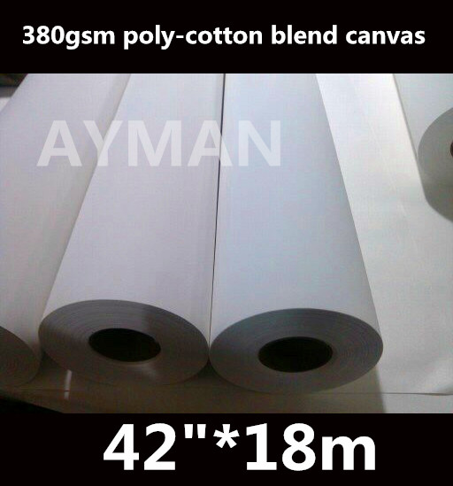 "42""*18m Wholesale Printed Poly Cotton Blend Inkjet Art Canvas 380g Grade Products According To Quality"
