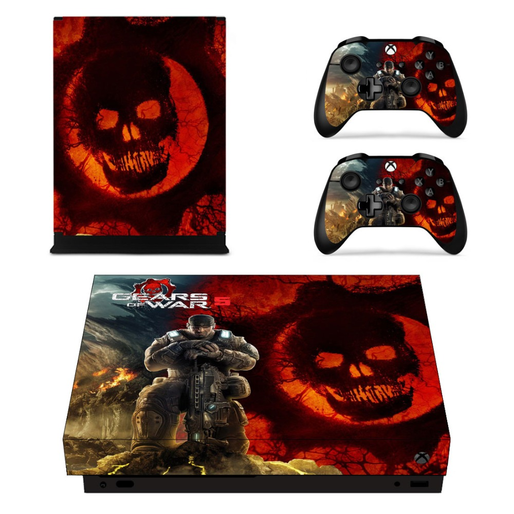 Learned Xbox One X Deadpool Skin Sticker Console Decal Vinyl Xbox Controller Easy To Lubricate Faceplates, Decals & Stickers Video Game Accessories