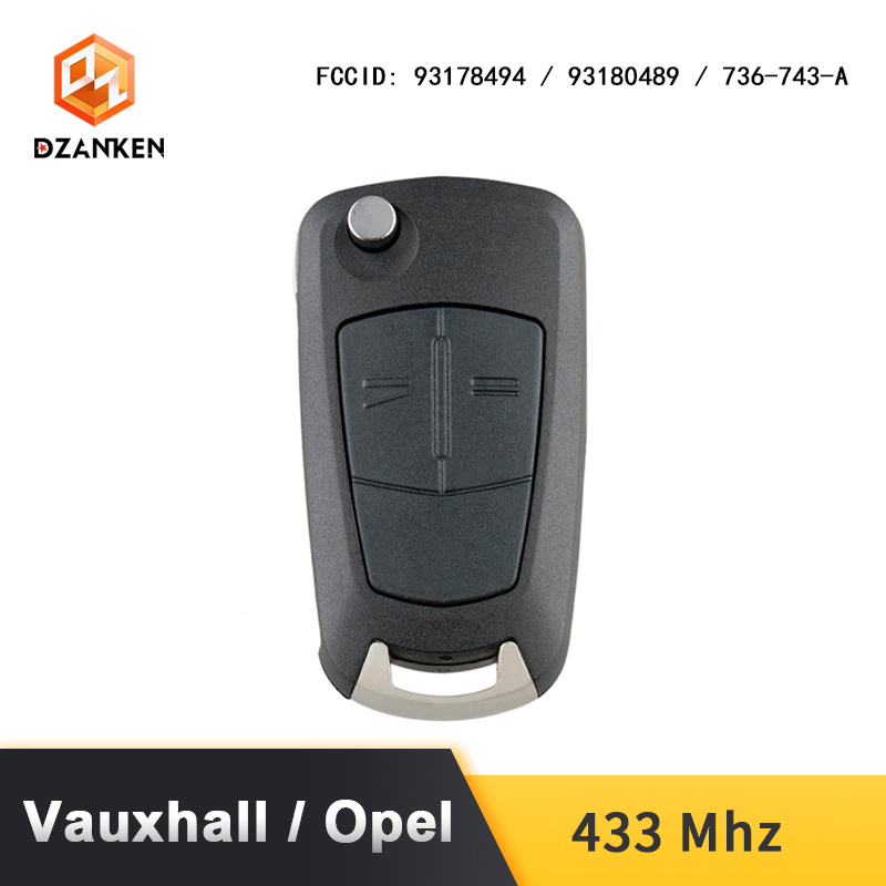 Image 3 - Remote Car Key Cover for Opel Astra H Zafira B /Vauxhall with Transponder Chip  & Uncut DIY Blade 433Mhz Opel Astra Car Key Suit-in Car Key from Automobiles & Motorcycles