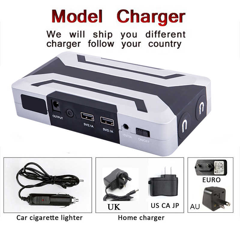 JKCOVER 1200A 12V Car Battery Jump Starter Auto Jumper Engine Power Bank Starting Up Petrol 8.0L Diesel 6.0L Car booster