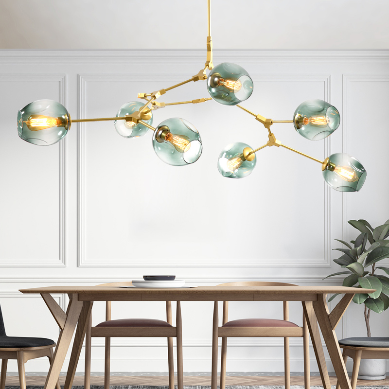 Modern Nordic Glass Chandelier Home Pendant Decoration Lighting Hanging Lamp Dining Room Living Room Light E27 Base 110V/220V modern simple diy pendant lamp living room dinning room pendant light home decoration lighting ac 110v 220v e27