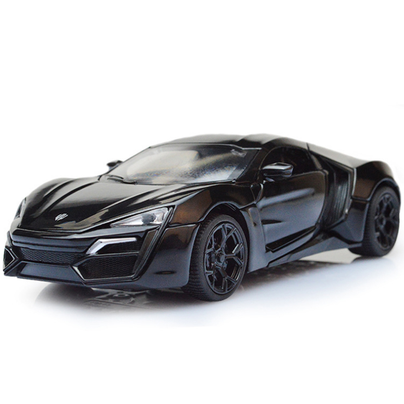 fast furious 7 lykan hypersport mini metal cars model toy pull back car miniatures gifts for children kids lf773
