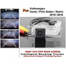 Para Volkswagen Vento/VW Polo Sedan/Clase 2010-2016 Las Pistas inteligentes Chip CCD de la Cámara HD Dinámico Tragectory Retrovisor cámara