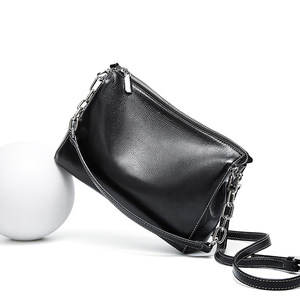 Image 2 - BRIGGS Chain Bag Crossbody Bags For Women Genuine Leather Shoulder Bag Flap Luxury Handbags Women Bags Designer black white
