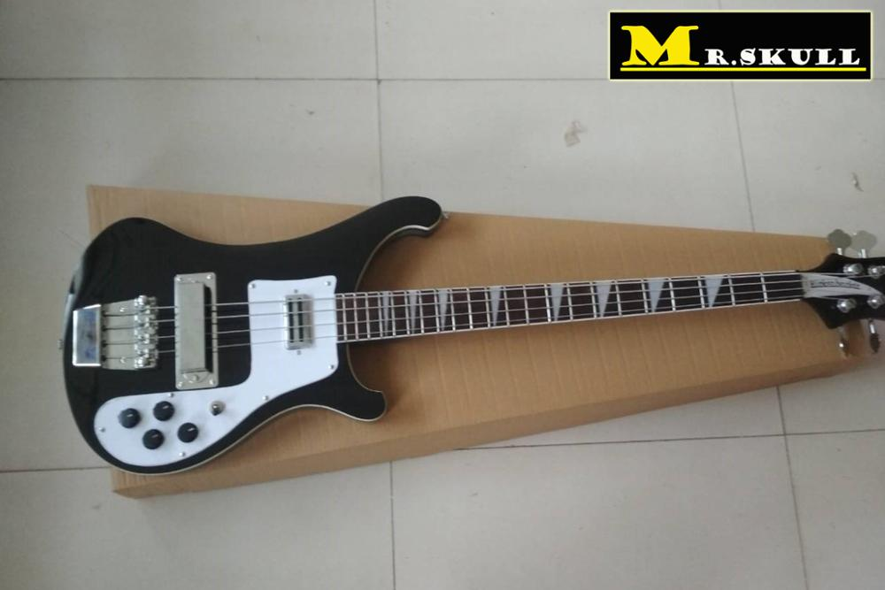 цена на OEM Bass Guitars Rickenback 4003 black electric bass guitar with 4 strings