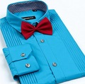 Camisa Dos Homens Vestido Tie sólida New Non Ferro Luxo Slim Fit Manga Comprida Camisas de Marca Fashion Business F0100