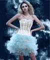 New Arrival 2016 Short Homecoming Dresses Ball Gown Sweetheart Neckline Tiered Ruffles Plus Size Club Dresses Party Gowns