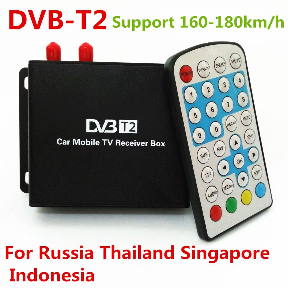 Два чип DVB-Т2 в формате MPEG-4 в MPEG-2 Автомобильный цифровой ТВ приемник для России, Таиланд, Сингапур, Индонезия Поддержка 160-180км/ч скорость