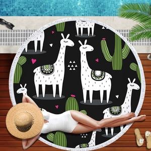 Image 5 - Buldog okrągły ręcznik plażowy z nadrukiem z psem ręczniki plażowe Serviette De Plage duży ręcznik z mikrofibry 150cm kąpiel Toalla dla dzieci