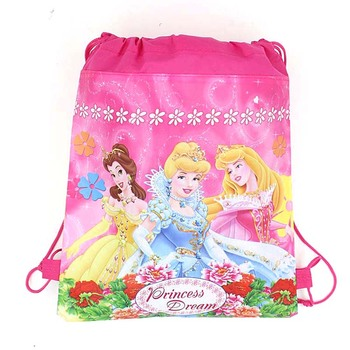 10Pcs Disney Cars Princess Sofia Frozen Moana Snow White Minnie Mickey Mouse Non-woven Fabrics Shopping Bag Drawstring Backpack 1