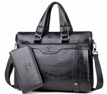 2017 männer Casual Aktentasche Business Schulter Leder Messenger Bags Computer Laptop Handtasche herren Reisetaschen handtaschen