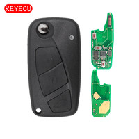 Keyecu Flip Remote Key 2 Button/3 Button 434MHz PCF7946 Chip for Fiat Punto Ducato Stilo Panda Central