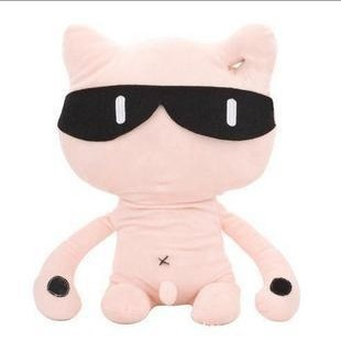 Free shipping cute cat the Xiaojian doll doll birthday gift