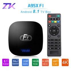 A95X F1 Smart Android TV Box Android 8.1 Amlogic S905W 4K 2GB 16GB 2.4GHz WiFi Media Player Box PK Mi Set Top Box