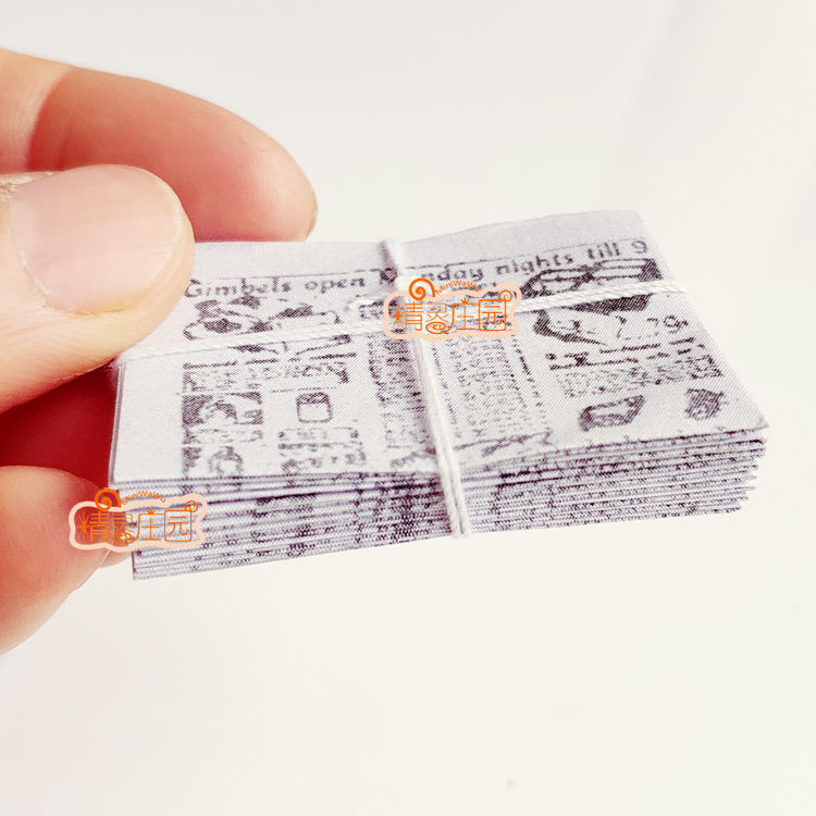 Mini 1 12 Miniature De Maison De Poupee Journal Jeux De