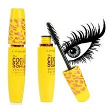 2016 New Black Mascara Waterproof Eye Lashes Yellow Pipe Extension Length Long Curling Eyelash Makeup Cosmetics Wholesale