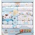 18 шт./лот 2020 Одежда для новорожденных девочек осенний цветной комплект в подарочной коробке из плотного хлопка Одежда для маленьких мальчик...