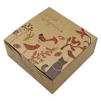 DHL Vintage Animal Design Kraft Paper Box Christmas Gift Box Macaron Cookie Candy Packaging Carton Box