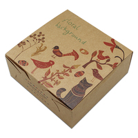 DHL Vintage Animale Design Kraft Scatola di Carta Regalo Di Natale Scatola Macaron Biscotto Candy Imballaggio Scatola di cartone per Rifornimenti Del Partito Evento