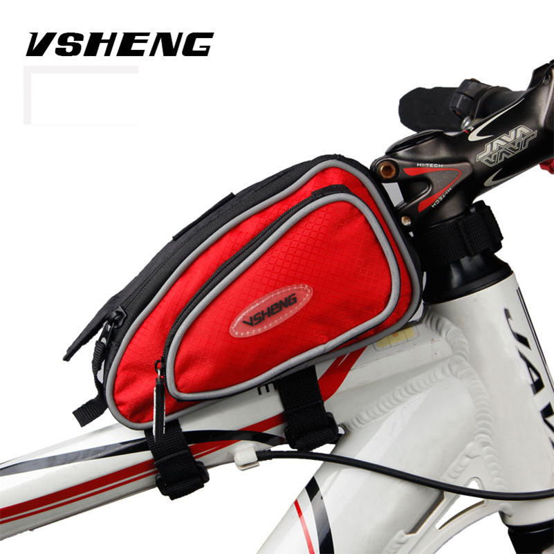 Bicycle Bag Front Top Tube Bag Cycling Bike Frame Saddle Package For Mobile Phone Waterproof Bike Accessories Bicycle Rack Bags
