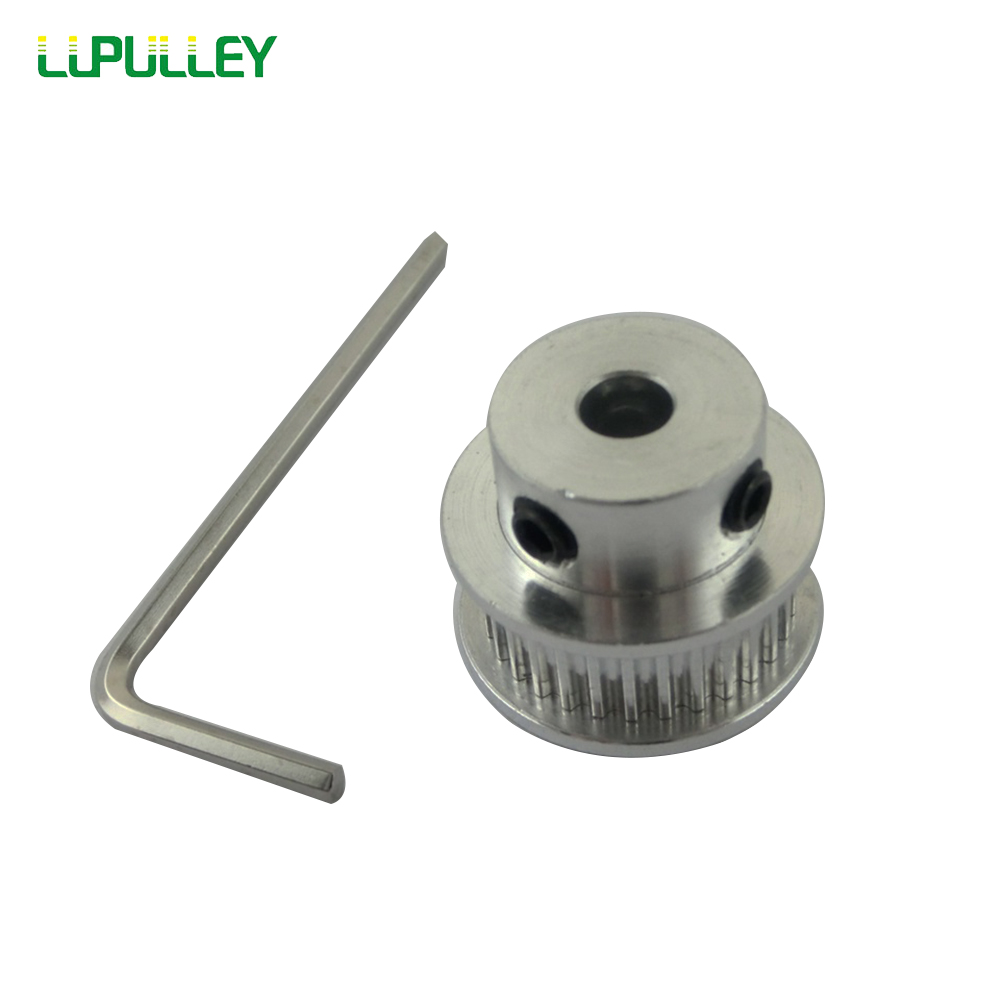 Aluminum GT5 20 Teeth 6.35mm Timing Belt Diameter Pulley Flange Synchronous Wheel for 3D Printer