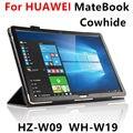 Случае Кожа Для Huawei MateBook Смарт-чехол Кожаный Защитный Tablet PC 12 дюймов Для Matebook HZ-W09 W19 W29 Протектор
