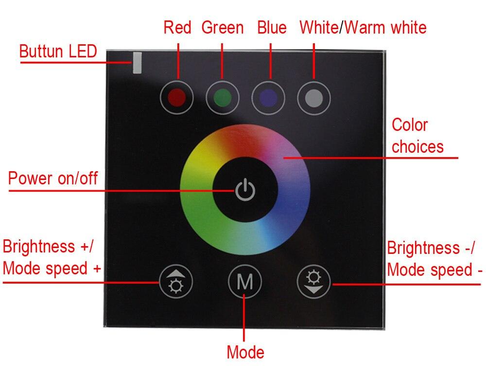 RF2.4G Պատի վրա տեղադրված անջատիչի հպիչի - Լուսավորության պարագաներ - Լուսանկար 5