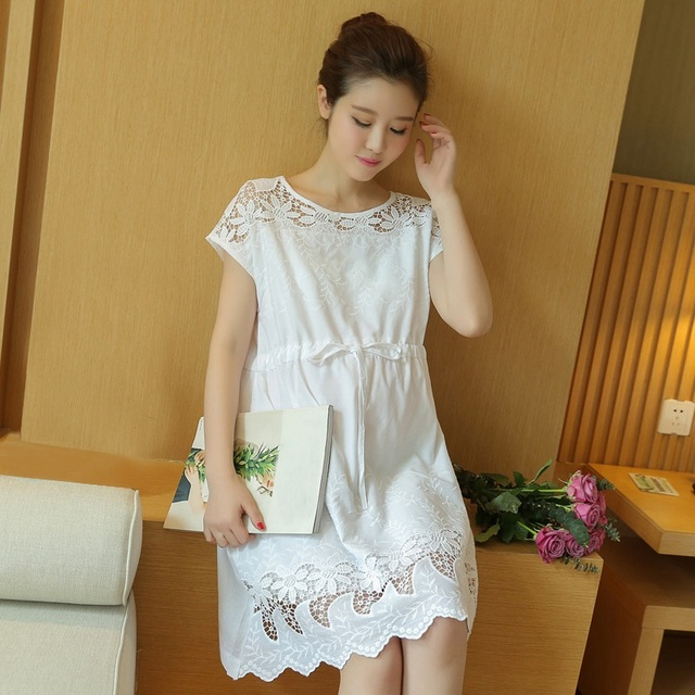 New Summer Maternity Dress Elegant Lace Pregnant Dress Loose ...