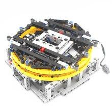 MOC Technic Parts tocadiscos de exhibición motorizado compatible con lego para niños, juguete (diseñador por majklspaajkl)