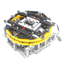 MOC Technic części zmotoryzowany obracany stół wystawowy kompatybilny z lego dla chłopców zabawka (projektant MajklSpajkl)