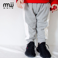 MMIW Winter Boys Full Sport Pants Thickening 95 Cotton Soft Sport Pants Black Red Orange Gray