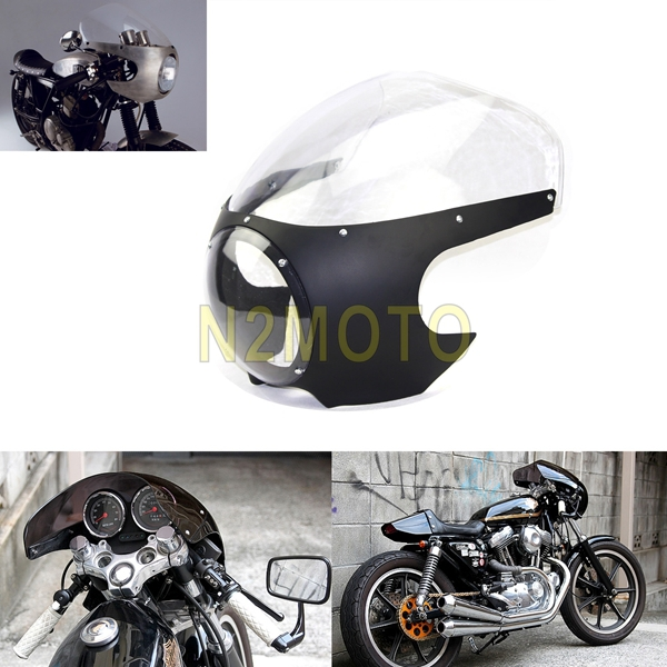 5 3 4 Headlamp Fairing Front Masks Cafe Racer Drag Racing For