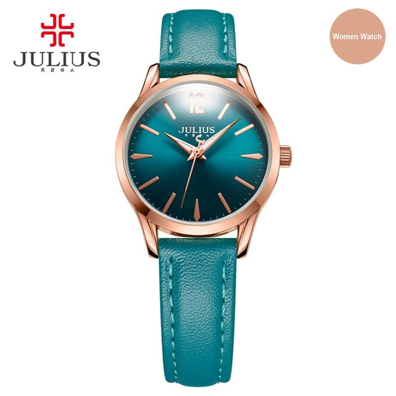 JULIUS 2017 New Arrival Design Simple Leather Women Watch Business Ladies Wristwatch Fashion Brand Clock Relogio