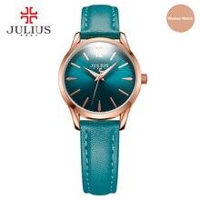Julius 2017 nueva llegada diseño simple reloj de cuero reloj de las mujeres señoras reloj de pulsera de moda marca de negocios relogio feminino ja-983
