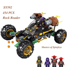 Compatible with Lego SY594 ROCK ROADER 454PCS Bricks Ninjagoes Stop Motion Build Review70589 Christmas Gifts for Children